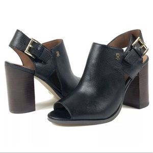 Tommy Hilfiger Leather Twpeppy Chunky Heel Sandals